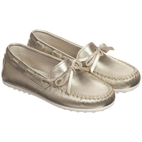 children s moccasin slippers children s classics metallic gold leather moccasin