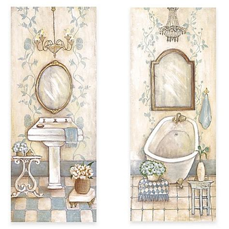 vintage bathroom wall decor antique blue bath canvas wall art collection bed bath