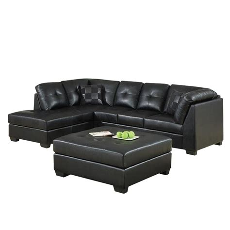 darie leather sectional sofa