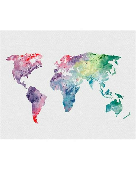 water color map world map watercolor