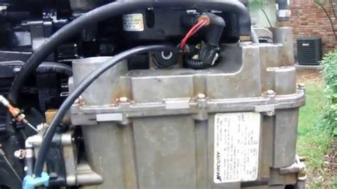 mercury optimax fuel pump clean  youtube