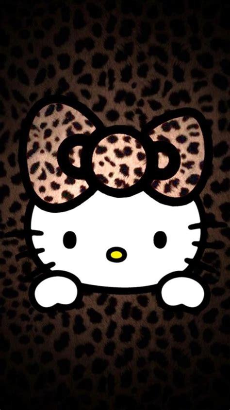 wallpaper hello kitty iphone leopard pattern hello kitty iphone 6 6 plus and iphone 5