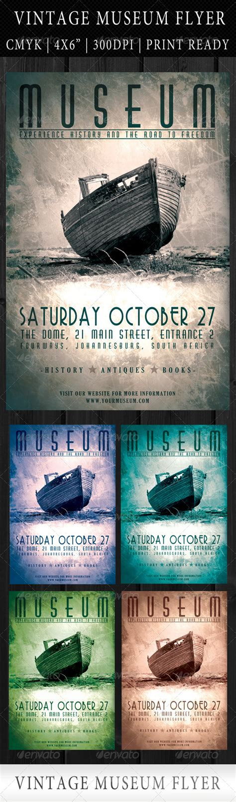 Museum Flyer Template vintage museum flyer template by yellow emperor graphicriver