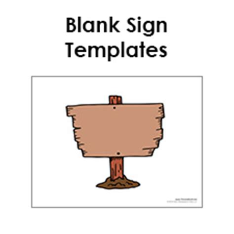 free printable sign templates free printable sign templates blank sign pdfs