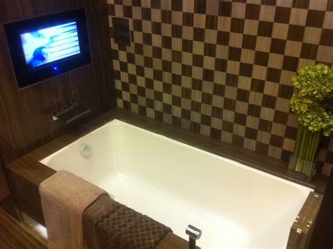 tv in bathroom ideas tv in the bathroom home design ideas and pictures