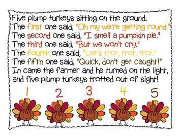 kindergarten thanksgiving poem pinterest the world s catalog of ideas
