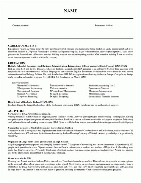 resume for college students still in school best resume