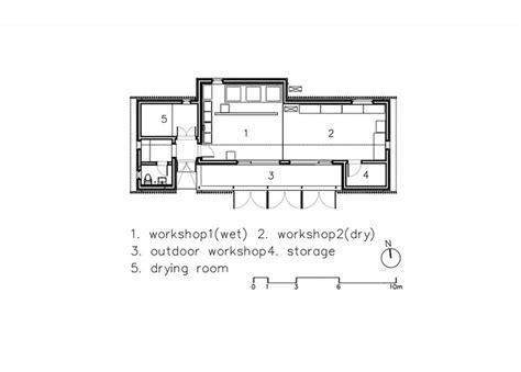 workshop floor plan slow food workshop oujae architects archdaily