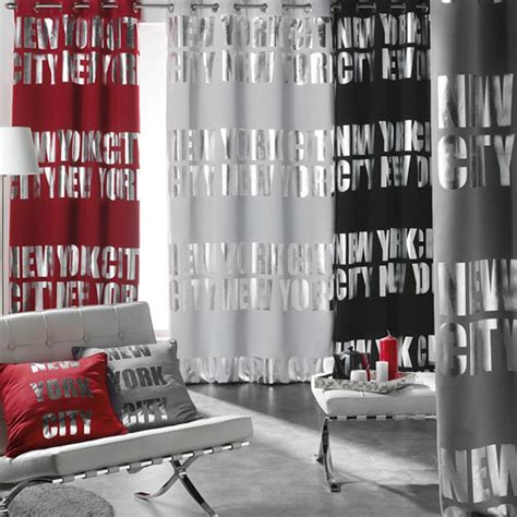 Rideau New York by Rideau Occultant Quot New York Silver Quot 140x260cm Blanc