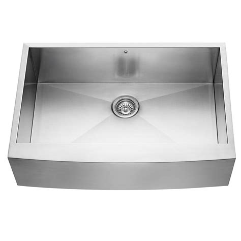 kitchen sinks stainless vigo farmhouse apron front stainless steel 33 in single