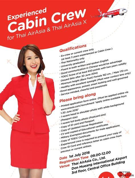 airasia recruitment airasia thailand experienced cabin crew recruitment july