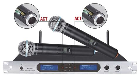 Rack Mount Wireless Microphone System by Excellent Quality 8009 Wireless Microphone System 200