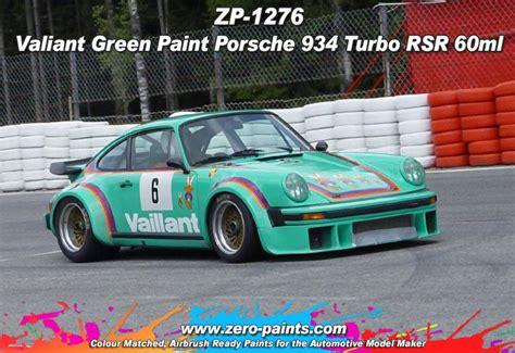vaillant porsche valliant green paint porsche 934 turbo rsr 60ml zp 1276