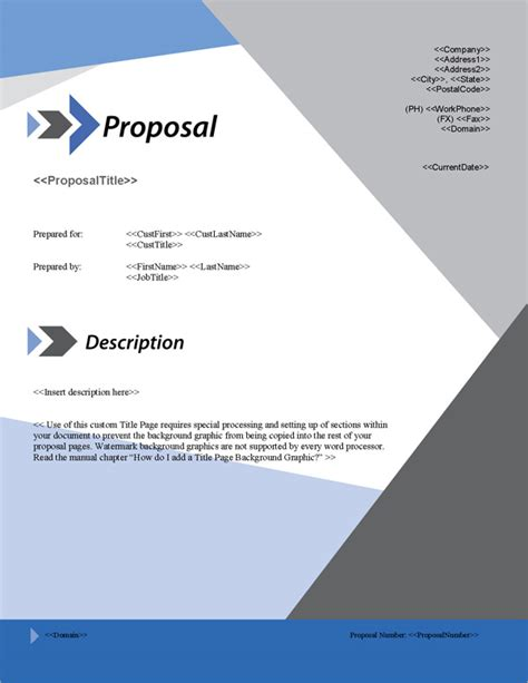 design proposal title proposal pack classic 15 software templates sles