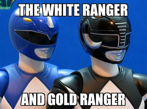 White Power Ranger Meme - the white and gold ranger thedress what color is this