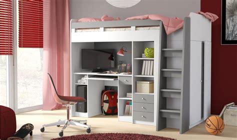 lit enfant combin bureau lit combin enfant avec bureau et armoire mobi