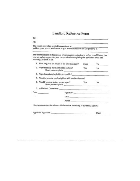 landlord reference letter template uk 40 landlord reference letters form sles template lab
