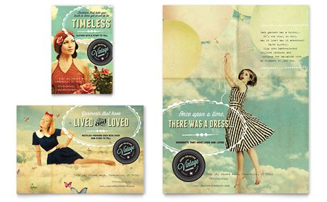 Vintage Clothing Flyer Ad Template Word Publisher Apparel Flyer Templates