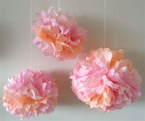 Pom Poms From Crepe Paper - awesome paper crafts s us pict of crepe pom concept and