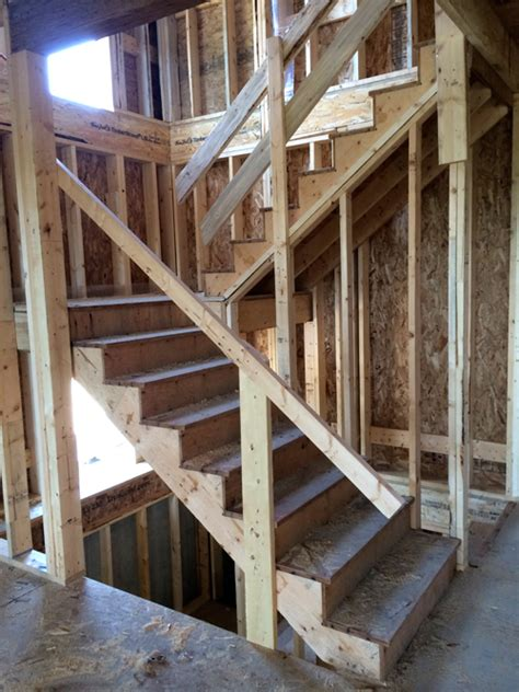 Building Stairs With A Landing prefab construction grade stairs plytech stairs vancouver bc