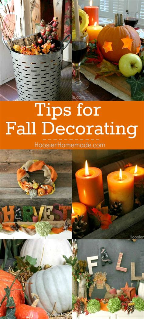 tips for fall decorating hoosier