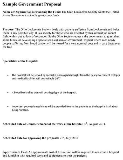 Government Contract Proposal Template The Hakkinen Government Contract Bid Template