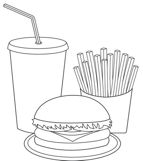 printable fast food coloring pages printable fast food