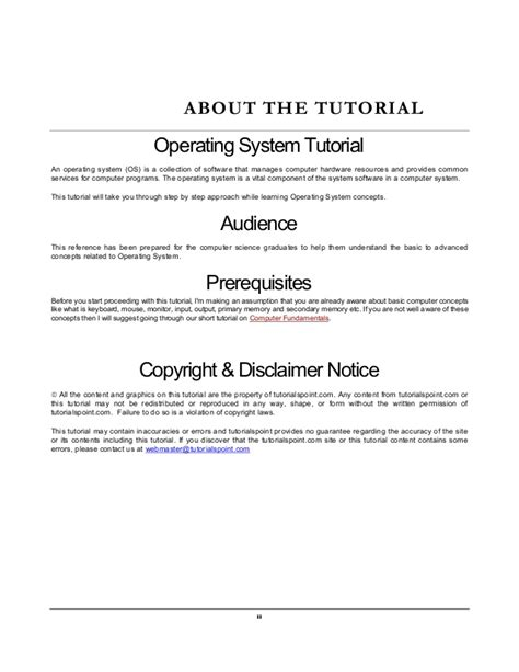 tutorialspoint operating system operating system tutorial
