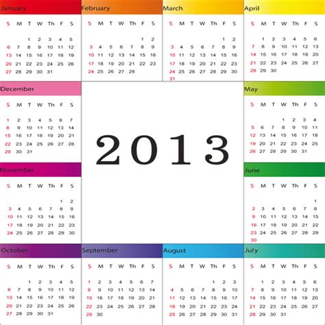 calendar design elements creative 2013 calendars design elements vector set 12