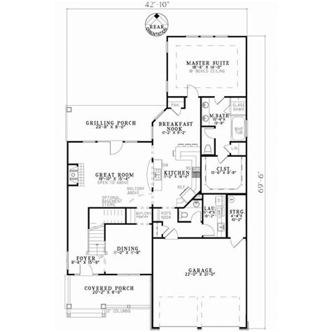 house plans by lot size patio lot size traditional style house plans 2457 square foot home 2 story 3 bedroom and 2