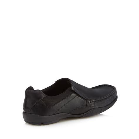 debenhams sports shoes herring mens black leather blend shoes from debenhams