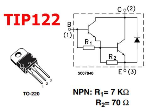 tip122 darlington transistor tip122 datasheet complementary darlington transistor st