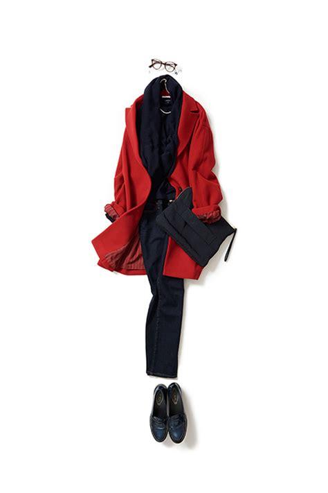 Kyoko Fashion Syari Quentin Navy Blue レトロな赤いコートをネイビー配色で着る 2015 11 01 coat price 84 240 brand loustic sweater price 25 920