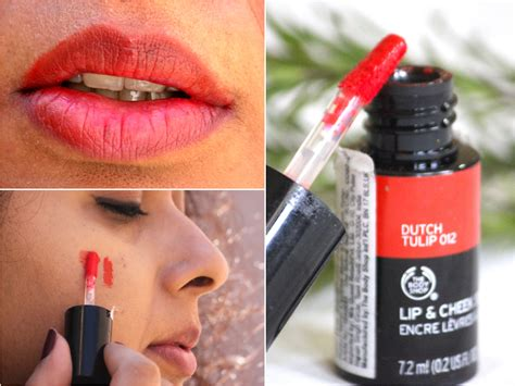Lip The Shop the shop lip and cheek stain tulip 012 review swatches makeup and forever