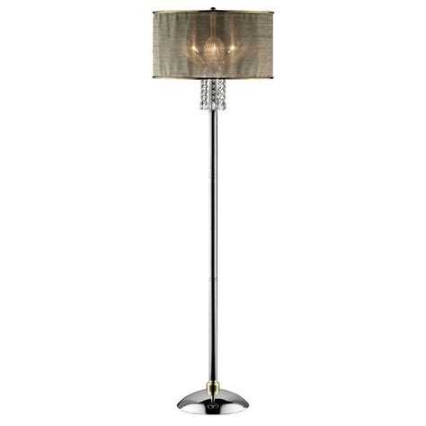ok lighting 61 in silver leaf floor l ok 5129f