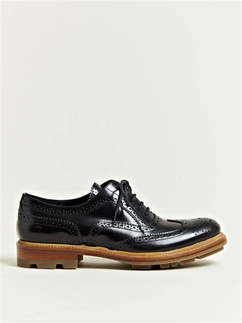 black womens oxford shoes jil sander jil sander womens master brogue oxford shoes in