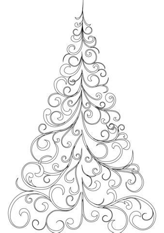printable black and white christmas tree black and white christmas tree printable pictures to pin