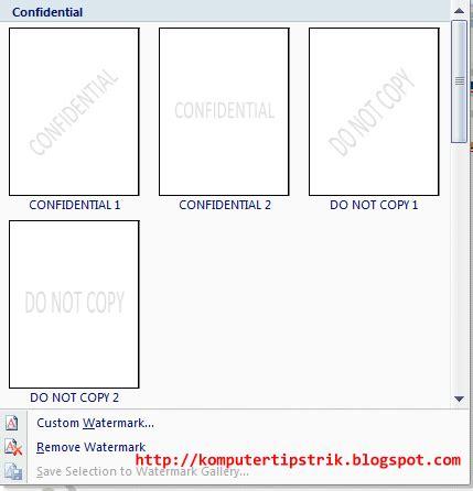 jenis layout pada office theme cara memasang memberi watermark di microsoft word 2007