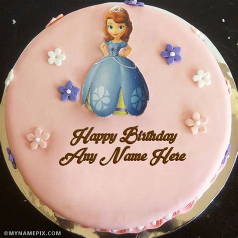 Beautiful Girl Birthday Cakes With Name