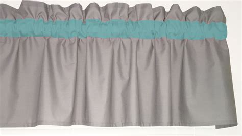 Solid Gray Valance Turquoise Solid Gray Window Curtain Valance Teal Bath