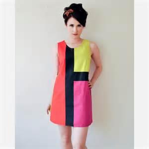 Purple Shag Rugs Mondrian Mod 60s Dress By Rock Amp Roll Vintage Fab Com