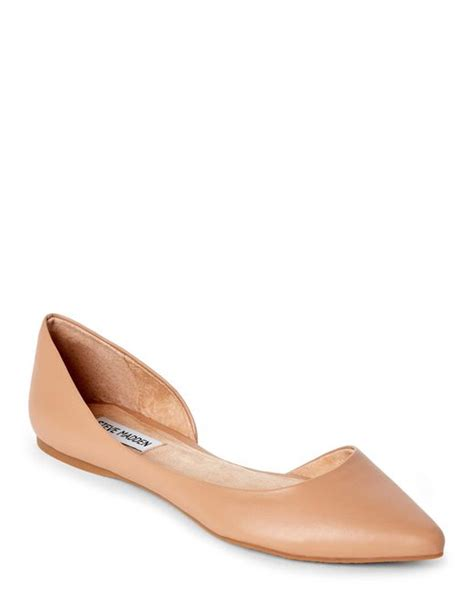 steve madden elusion pointed toe d orsay flats in lyst