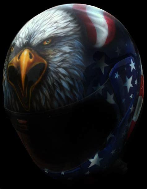 eagle airbrushed motorcycle helmet american flag dallas