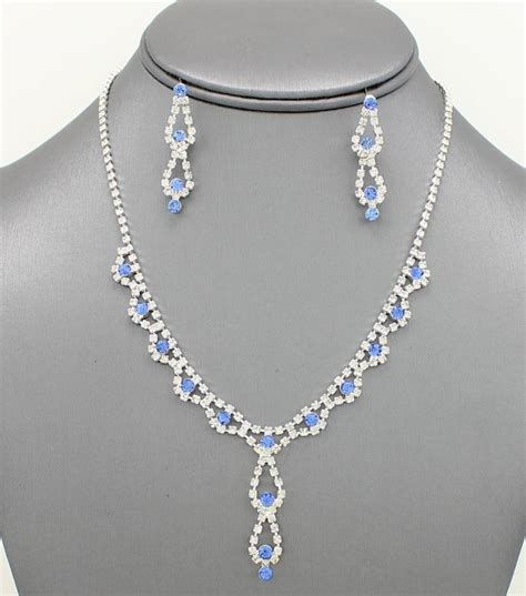 dainty set dainty rhinestone necklace set angie davis