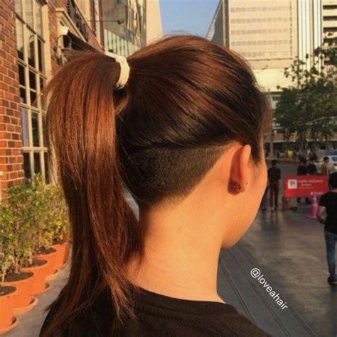nape undercut long hair mais de 1000 ideias sobre cabelo rapado no pinterest