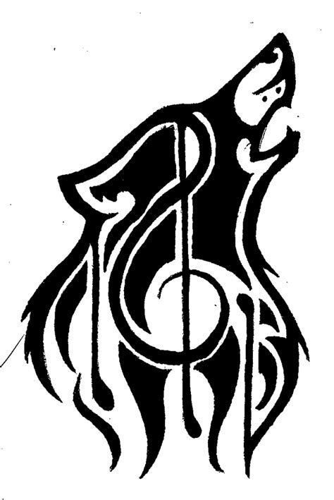 musical tribal tattoo designs tribal flames and music note
