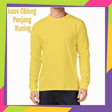 Kaos Kuning Polos kaos oblong polos lengan panjang kaos oblong panjang