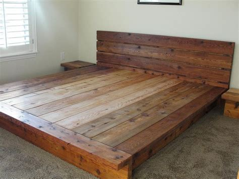 king rustic platform bed 100 cedar wood 2 200 00 via