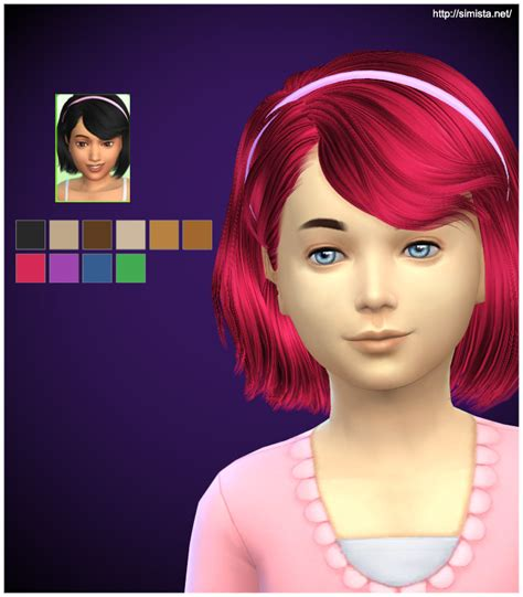 the sims 4 hair kids ela hair 46g the sims 4 finds and sims