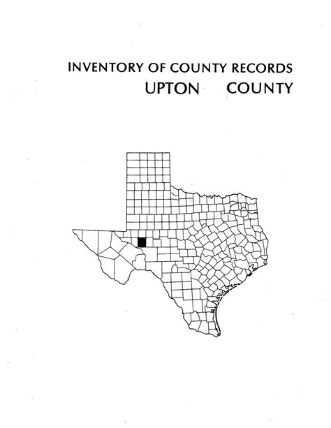 Rankin County Records Inventory Of County Records Upton County Courthouse